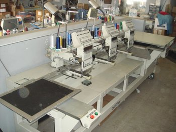 Brother BAS-423A 3 Head Commercial Embroidery Machine