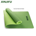 Yoga mat with a double layer thick 6mm eco-friendly non-toxic TPE material for an anti-allergic and anti-slip exercise mat