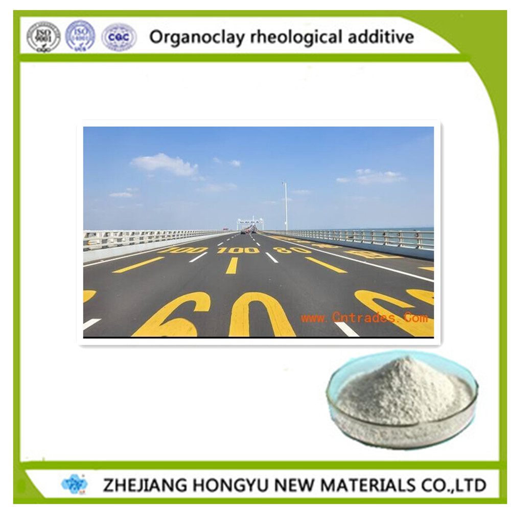 organic bentonite rheological additive for road paint