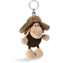 high quality cute soft plush sheep keychain with hat toys