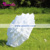 A0250 White Can Can Parasol Umbrella Baby Shower Party Decoration Frill Umbrella