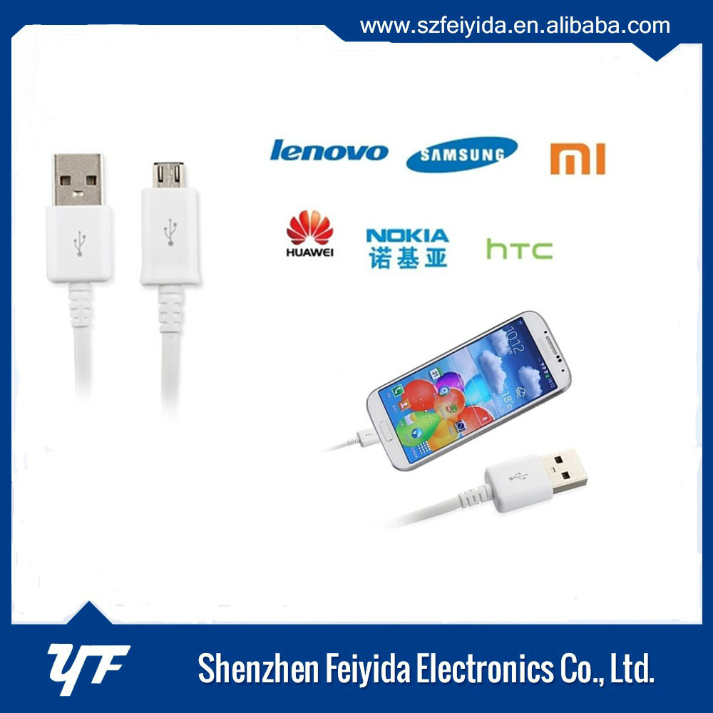 Shenzhen factory 2.4a micro usb cable for samsung galaxy s3,S5,i9300 charging port cable