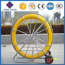 Diameter 9mm Yellow FRP Conduit Rod / Duct Rod / Cable Pulling Rods