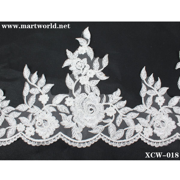 top french net lace supplier(XCW-018)