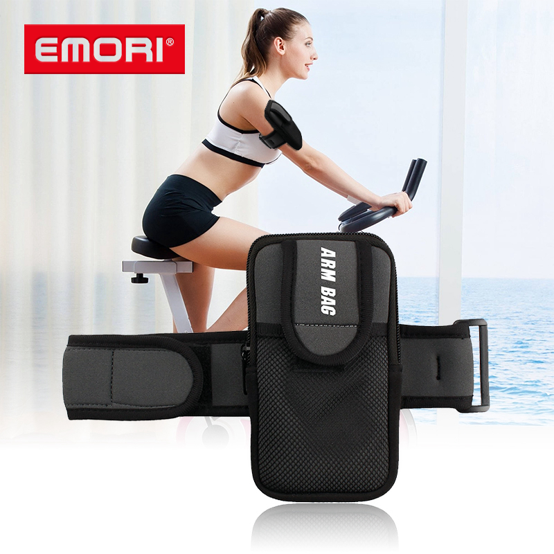custom promotional outdoor running neoprene sport phone arm bag