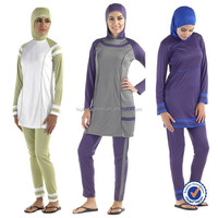 islamic women swimsuit polyester knit islamic muslim women swimwear