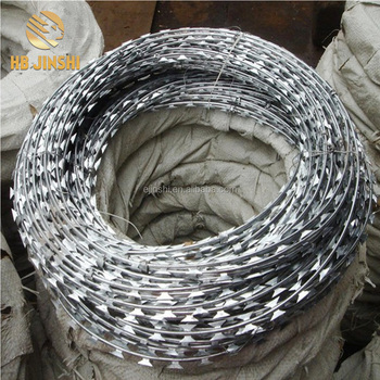 100meter length coil Razor barbed wire