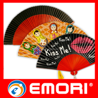 Christmas craft popular fashionable folding paper hand fan