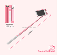 Unique Design Selfie stick build-in bluetooth mobile phone selfie stick case for iphone 7
