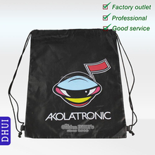 Wholesale,custom screen printing polyester fabric drawstring bag,durable eco 210D polyster travel bag
