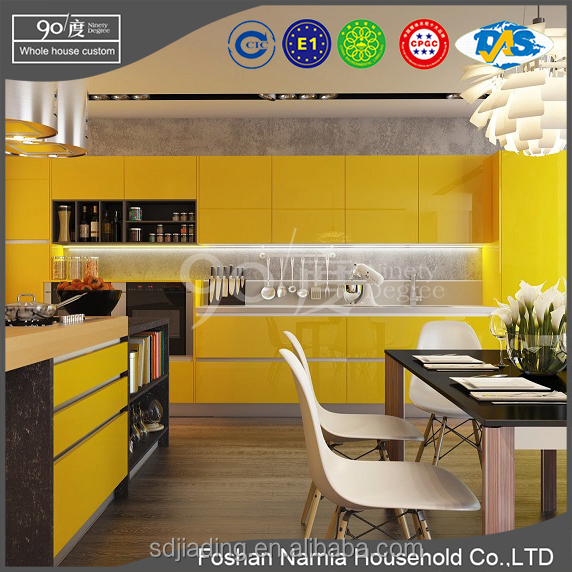 Ninety Degree high Quality MDF Kitchen Cabinet for seckilling cabinet in whole March