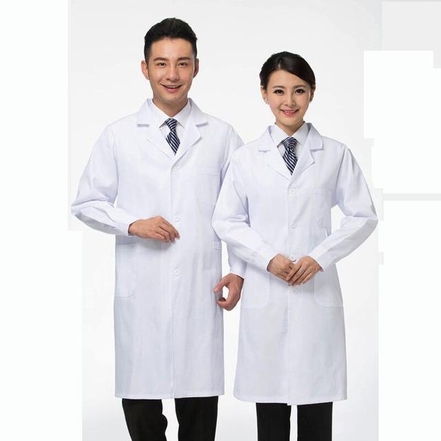 Y56072 Women Short Long Sleeve Nurse Uniform Medical Nurse Clothing White Lab Coat