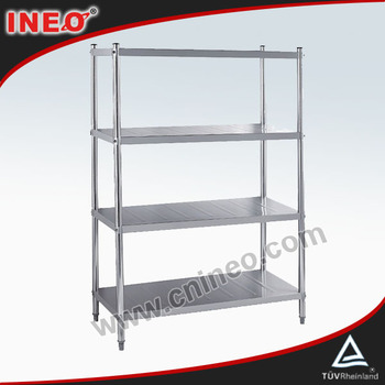 Heavy Duty Stainless Steel 4 Tiers Supermarket Shelf Rack/Super Market Shelf/Vegetable Shelf