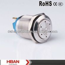 CE ROHS 19mm push button on off switch