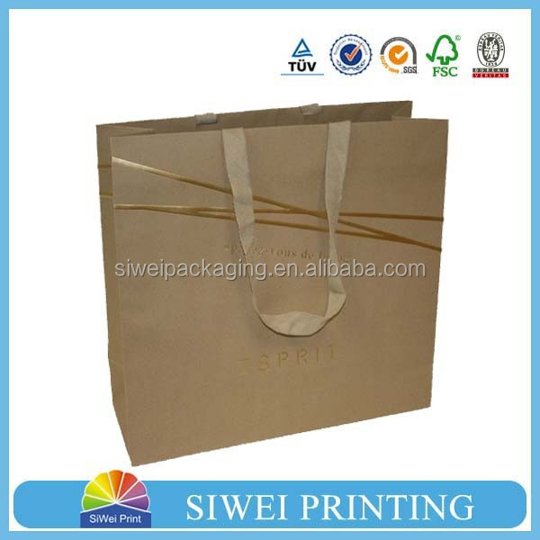 2015 recycled new design and brown/white grocery kraft paper bag