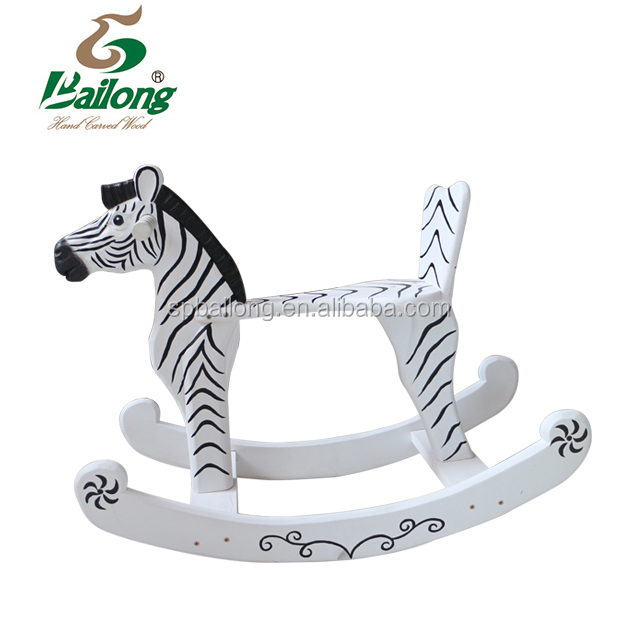 Child game toy wooden animal ride on horse