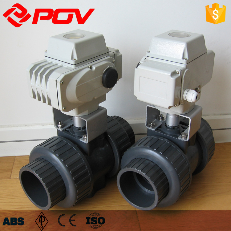 220v PVC electric actuator ball valve 50mm screws or flanged