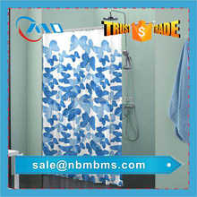 Polyester Fabric Double Swag Shower Curtain