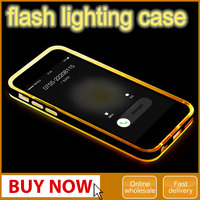 Original Rock TPU Case With PC Bumper Flash Lighting Case Cover For iPhone 6 6s With Retail Package