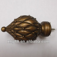 HW-006 Wooden Curtain Pole Finial,Wooden Curtain Rod Set,Wood Curtain Rod Finial