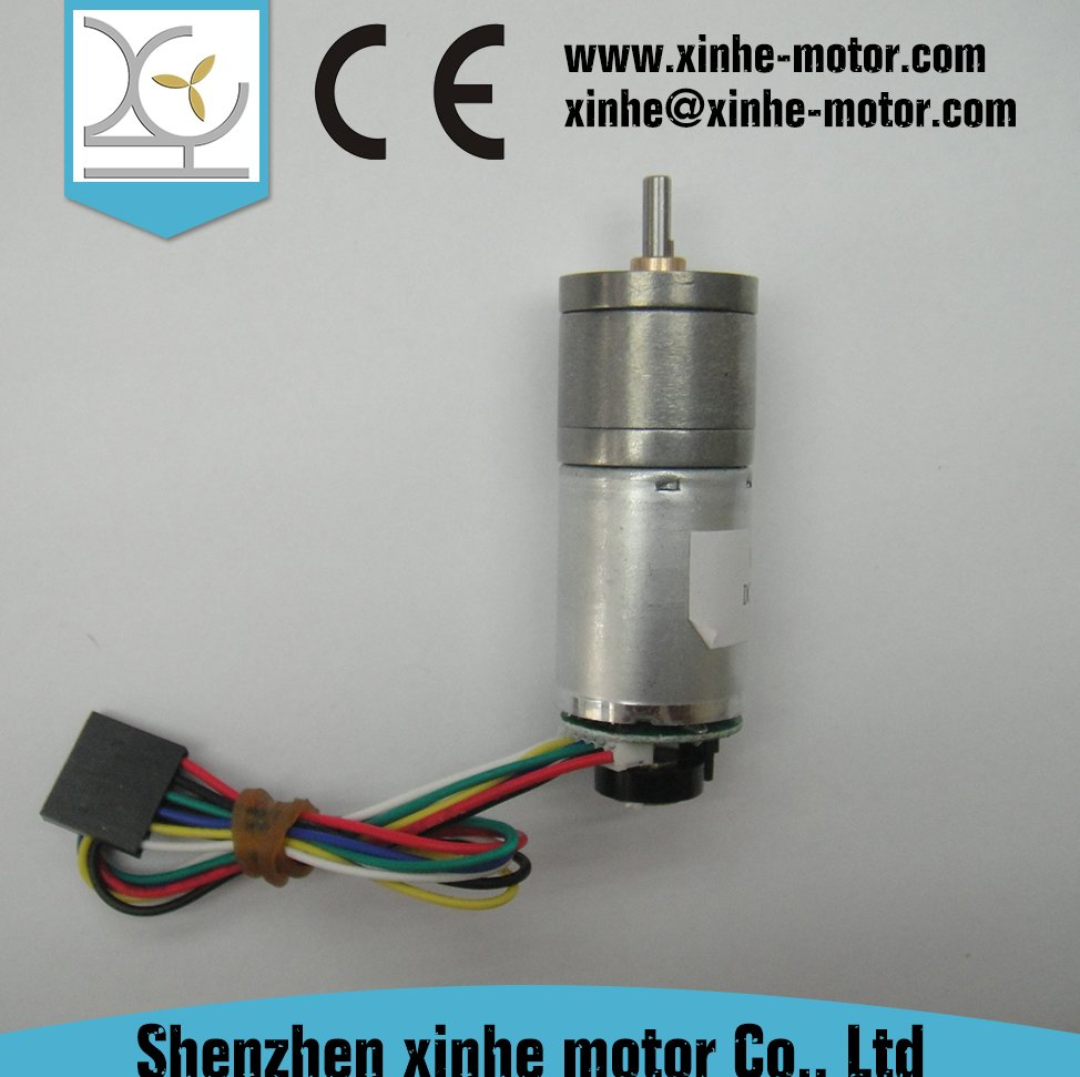25mm 12v dc motor with gearbox gear reduction and encoder for robot