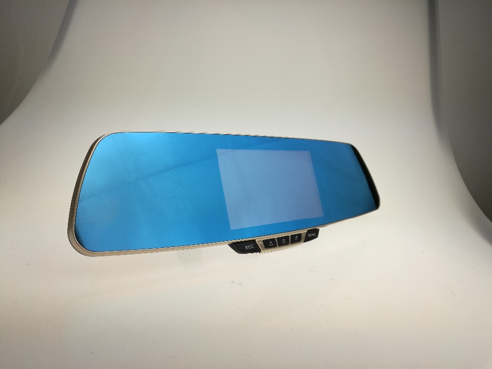 "720p car rearview mirror 2 cam 5"" Touch Screen WIFI car dvr"