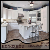 Modular Home Off White Luxury Custom Commercial Kitchen Cabinet Furniture