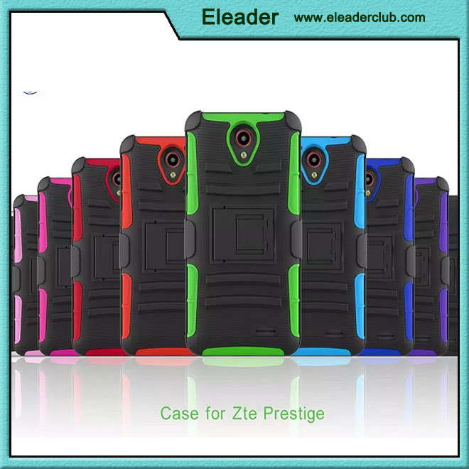 shockproof combo hard case cover for ZTE prestige