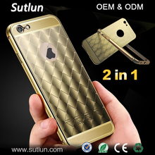 2 In 1 Ultra-thin Aluminum Metal Bumper hard Back Cover Case For Apple iPhone 6 6S 6 /6S Plus