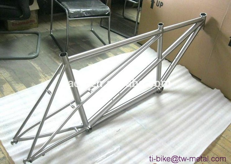 Cheap titanium tandem road bicycle frame Ti road bike tandem frameset customized titanium no folding frame tandem