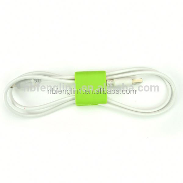 CC-921 Ningbo Boomray TPR manufacturer computer peripherals organize the wire colorful USB headset/earphone cable tie winders