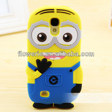 FL3311 2014 China manufacturer cute cartoon minion case for samsung galaxy s4 i9500
