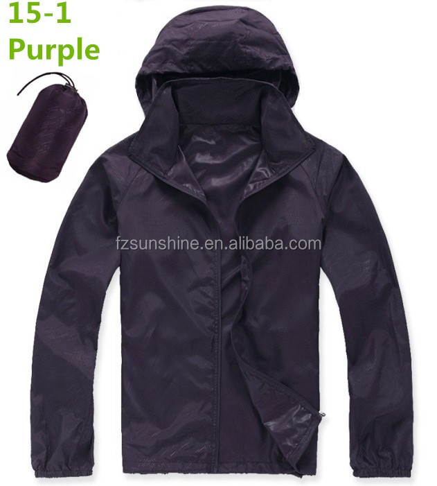 With Hood Oem Service 100% Polyester Lightweight Waterproof Jacket