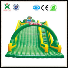 Eco-friendly green theme large inflatable slide/inflatable dry slide/inflatable slide price QX-116J