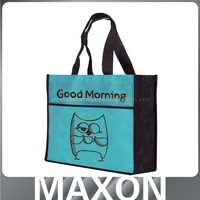 Latest design printing pictures printing non woven shopping bag made in China