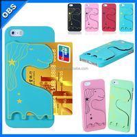 2014 new design PC hard mobile phone case for iphone5 iphone5s with slot insert card function(OBS-M6098)