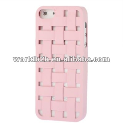 Weave Hollow Breathable Plastic Case for iPhone 5