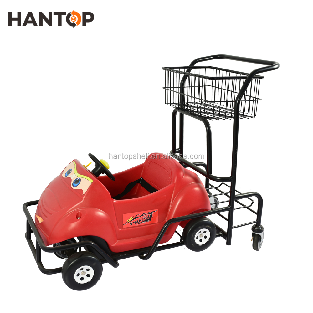 High Quality kids hypermarket shopping trolley with baby seat HAN-K06 4494