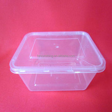 PP square plastic container with flip lid