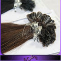 Competitive price fast buy European U tip100% virgin remy hair extensions !!
