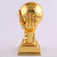 Polyresin football competition winner souvenir trophy cup
