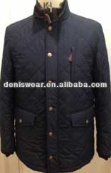 mens polyester quilited jacket with gilet