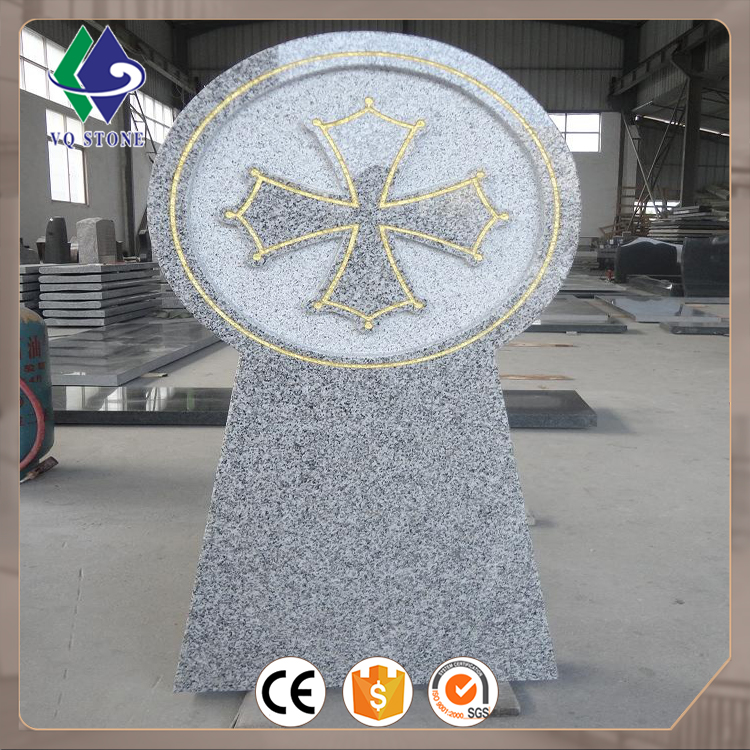 Factory price chinese granite celtic cross headstones