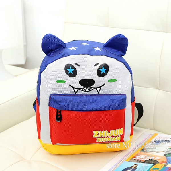 040 boys backpacks cartoon dog shape school backpacks for boys boys school bags kid child school backpack cool