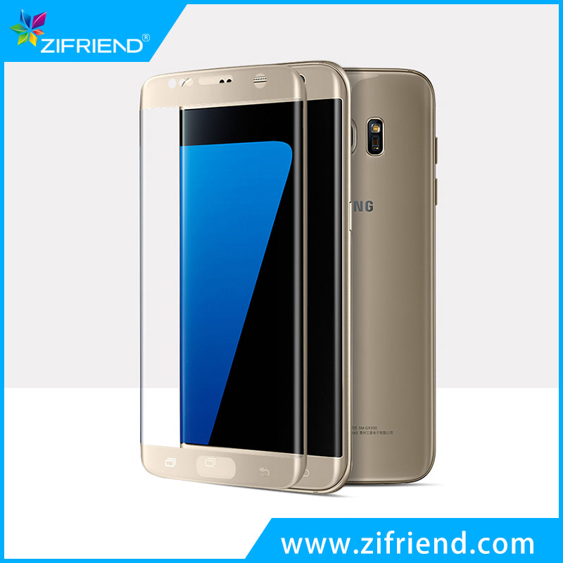 zifriend 3D curved for samsung galaxy s7 edge tempered glass screen protector sheet