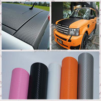 3D carbon fiber vinyl/vynil car wrap for car and motorcycle