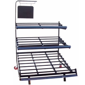 CE & ISO approved high quality 3 tiered fruit and vegetable rack stand for store