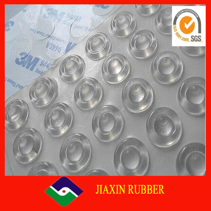 China factory high quality Furniture accessory Protective Silicone rubber round square bumper 3M adhesive bumper