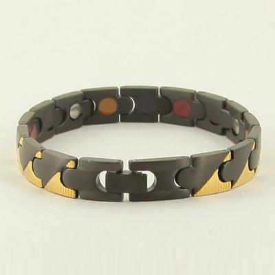 Natural stone fashion jewelry wholesale negative ion 316l stainless steel health bracelet