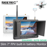 "Light weight non blue screen 7"" professional fpv monitor 1024x600 hdmi av port wireless 5.8g 32ch receivers mini helicopter toy"